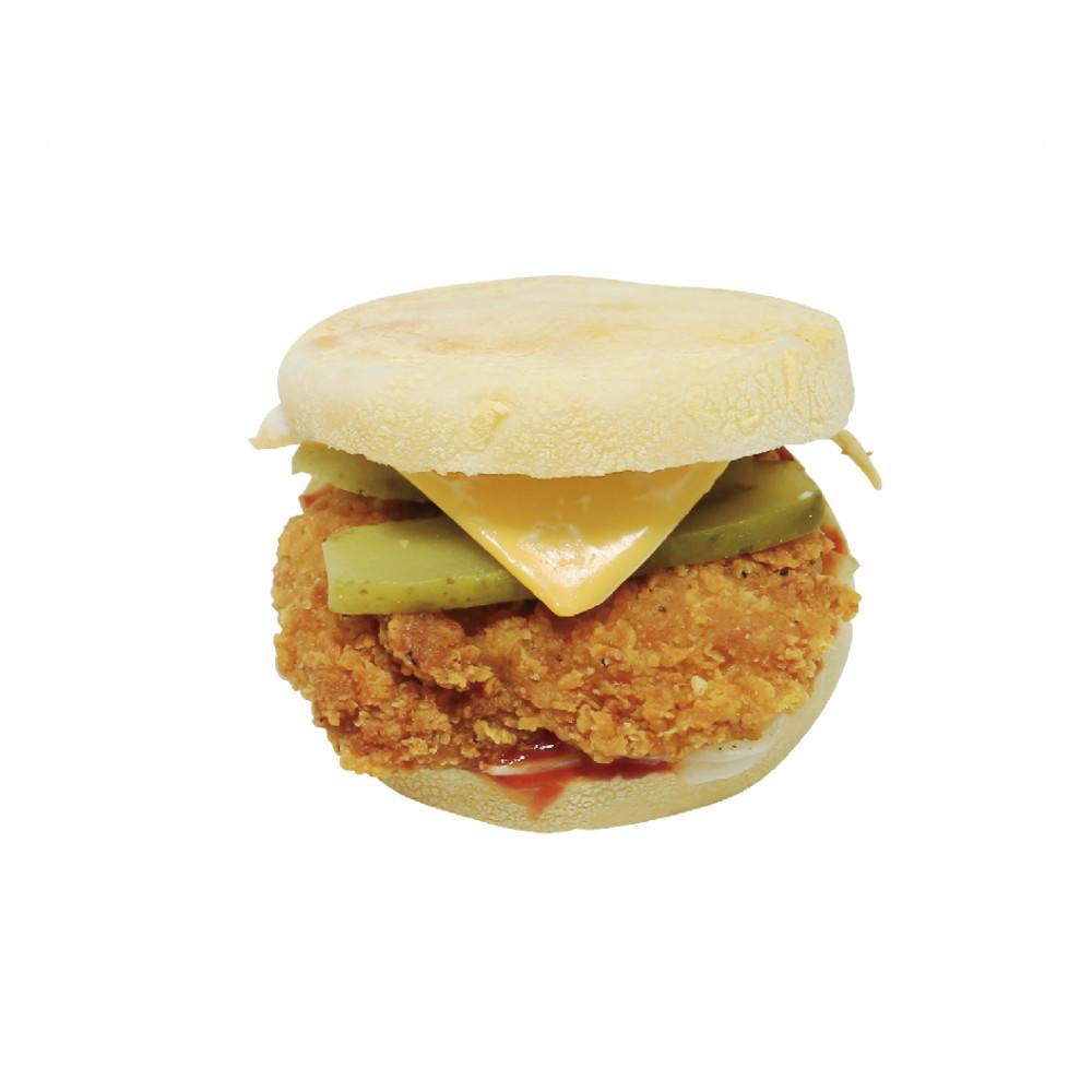 英式早餐松饼(炸鸡)