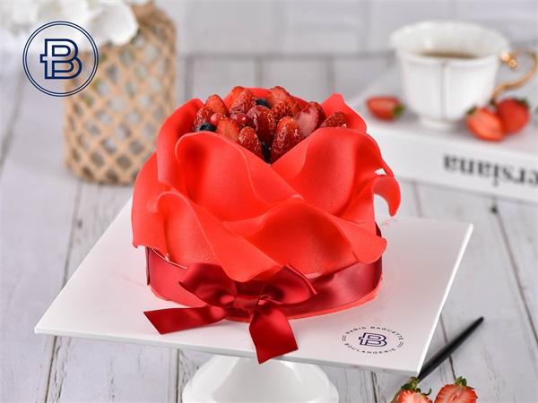 红玫瑰款蛋糕
