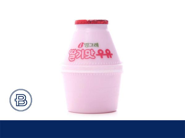 宾格瑞草莓牛奶
