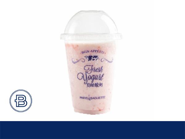 草莓酸奶饮品