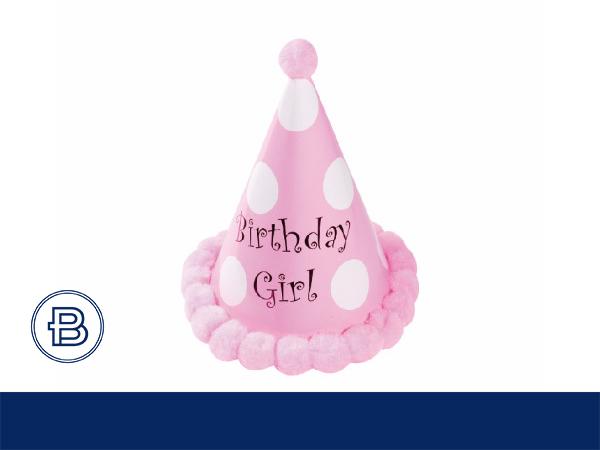 17年生日帽带圆球(粉)