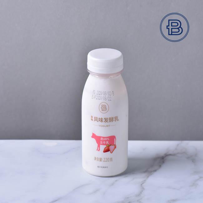 草莓味风味发酵乳